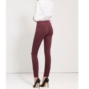 3x1 NYC Channel Seam Skinny Jeans in Rum Raison
